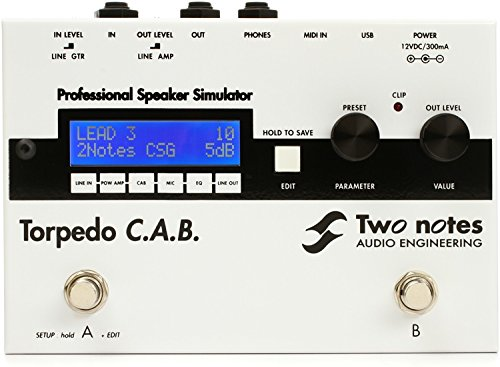 Two Notes Torpedo C.A.B. Speaker Simulator Pedal by Two Notes