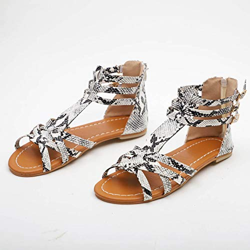 Sandals Ladies Large Size Celebrity Wind Wave Siberian Sandals Women Flat Sandals Beach Casual Shoes,Gray,35,United States (Counter Newcastle)