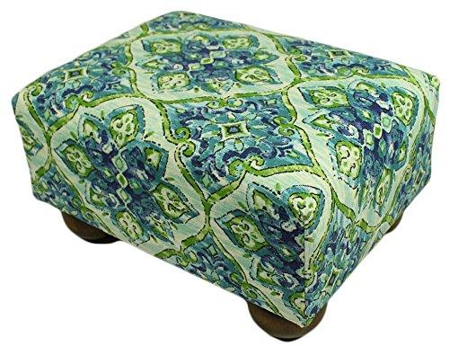 Sea Tiles Upholstered Fabric Footstool Ottoman