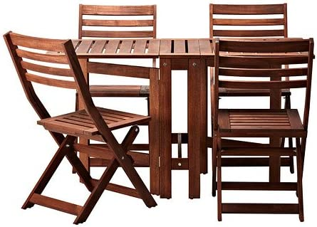 Dining Table & 4 Folding Chairs