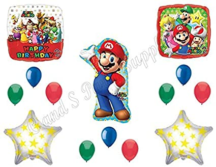 Amazon.com: XL Super Mario Brothers Video Game Cumpleaños ...