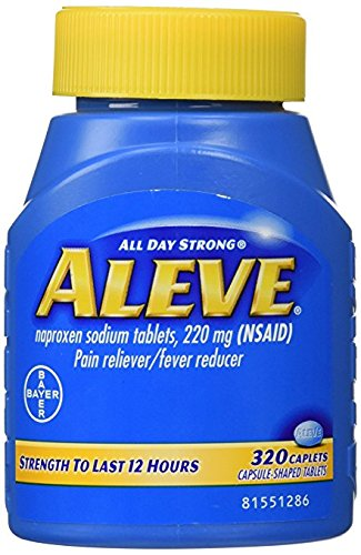 Aleve Caplets Pain Reliever Fever Reducer, 320 Caplets (Pack of 4) by Aleve