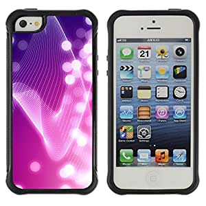 LASTONE PHONE CASE / Suave Silicona Caso Carcasa de Caucho Funda para Apple Iphone 5 / 5S / Lines Bright White Lights Girly