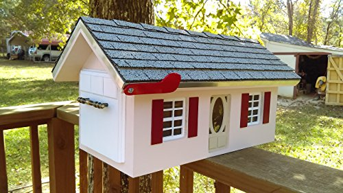 Custom Wood Mailbox Country Home. Luxury Trim. Any Color (Wood Trim Boxes)