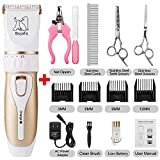 Bojafa Dog Grooming Clippers Professional Low Noise and Cordless Pet Grooming Clippers Tools
