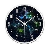 [B] Reloj de pared elegante de 12 pulgadas Reloj de pared silencioso decorativo que no hace tictac