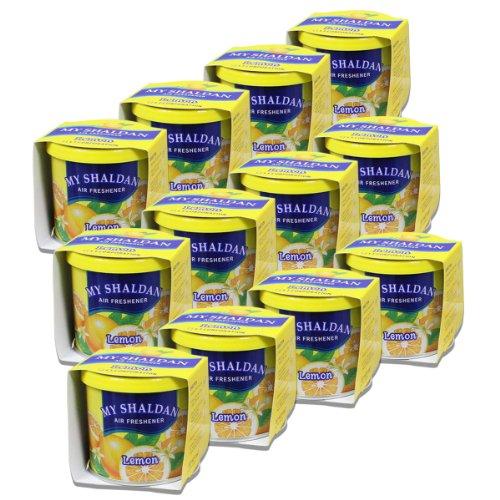 Pack of 12 My Shaldan Japanese Car Cup-Holder Natural Air Freshener Cans (Lemon Scented)