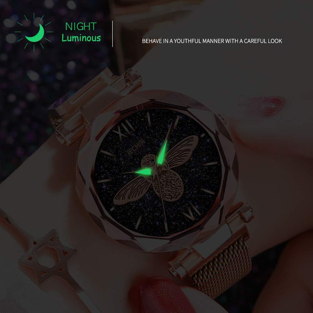 Jechin Women s Starry Sky Watch Woman Magnetic Buckle Bracelet Watches