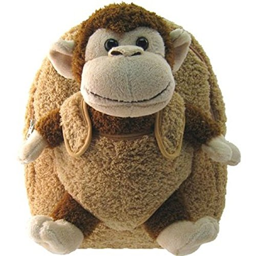 Kreative Kids New! Adorable Children's Plush Animal Monkey Backpack