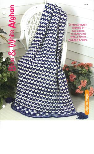 Download Blue and White Afghan - One Knitting Pattern for One Afghan pdf epub