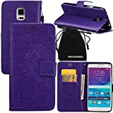 Note 4 Case, Galaxy Note4 Case, DRUnKQUEEn Wallet Case with Cellphone Holder - PU Leather Cover Purse Slim Fit Card Slot for Samsung Galaxy Note4 N910
