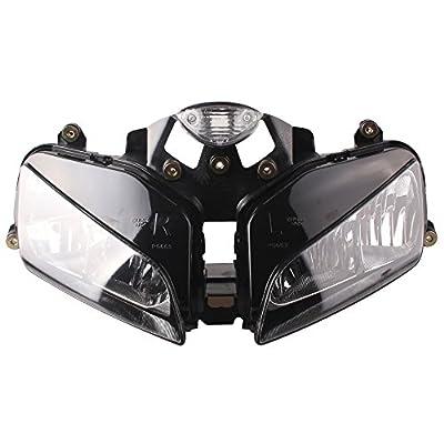 GZYF Motorcycle Headlight for Honda 03 04 05 06 CBR 600rr F5 2003 2004 2005 2006 Clear Head Light Black