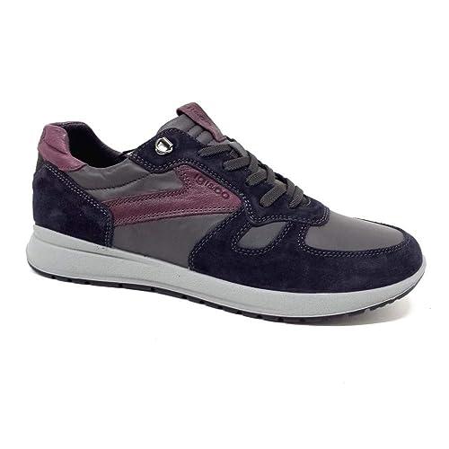 IGI CO 2135422 Sneakers Basse Scarpe Casual Uomo in Pelle Blu ... 0ebcce477cc