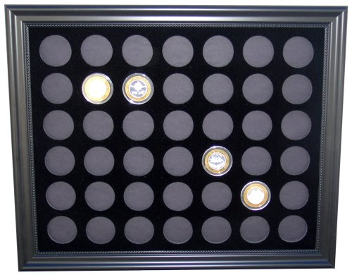 (Tiny Treasures, LLC. Black Silver Strike Display Frame for 42 Silver Strikes Casino Coins (Not Included))