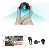 AccLoo Mini WiFi Camera, Security Camera HD 1080P Wireless Portable Small Camera with Motion Detection and Night Version…