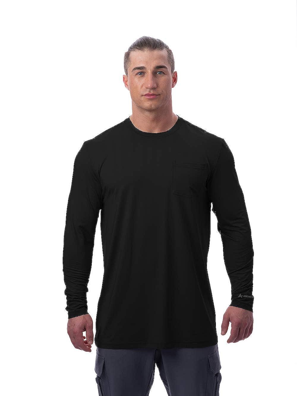 Arctic Cool Men's Instant Cooling Long Sleeve Pocket Workwear Shirt
