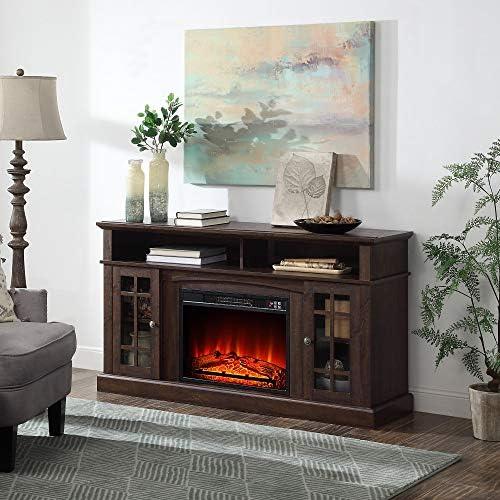 BELLEZE Fireplace TV Stand