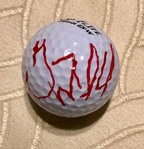GARY WOODLAND AUTOGRAPHED Hand SIGNED TOP FLITE 4 GOLF BALL w/COA & NEW BALL CUBE - Hand Signed Golf Ball