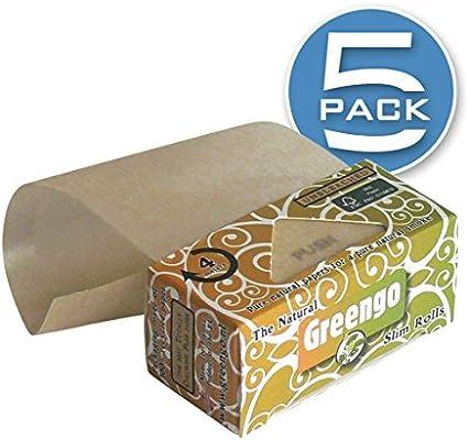Greengo Natural Rolling Paper Rolls Slim [44mm], Genuine