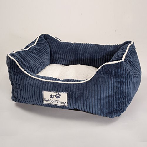 Pet Soft Things Corduroy Applique Pet Bed, 19