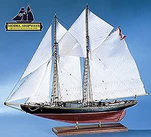 Model Shipways 1921 Bluenose Canadian Fishing Schooner Boat 1 64 Historic Wood Kit Ms2130 Model Expo Toys Games
