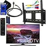 "Samsung Electronics UN40MU6290 40"" Inch HDR 4K Ultra HD Smart LED TV + Fotolux TV Wall Mount Tilting Bracket + Remote Control + Component Cables + Xtech HDMI Cable + HeroFiber Gentle Cleaning Cloth"