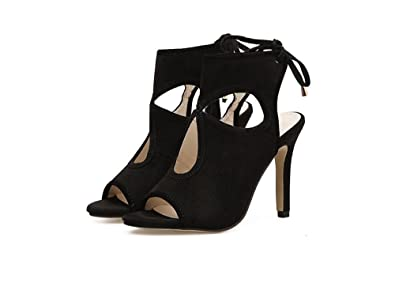 f6b0f54fda08 Super frist Womens Peep Toe Low Heel Ankle Buckle Wedge Sandals Cut Out  Bootie Boots (