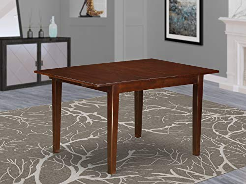 "Norfolk rectangular table with 12"" Butterfly Leaf  -Oak Finish."