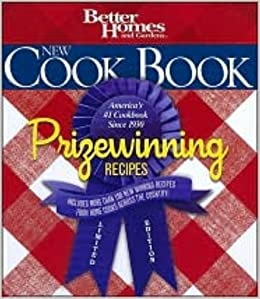 Better Homes and Gardens New Cook Book Prizewinning Recipes