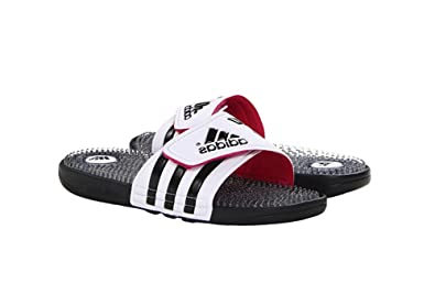 144f9fc29 adidas New Women s Adissage Fade Slides White Black Pink 4