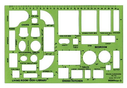 Alvin TD714 Design Templates House Furnishings Template by Alvin