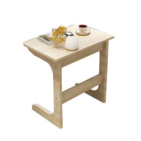 best service 78c1d 63b91 Amazon.com: HANSHAN Side Table Laptop Table Solid Wood U ...