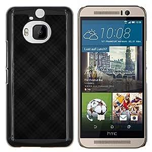 Stuss Case / Funda Carcasa protectora - Patrón Negro Cross Criss - HTC One M9Plus M9+ M9 Plus