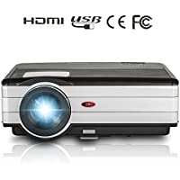 EUG Upgraded X89+ 3500 Lumens LED Video Projector Multimedia support HDMI VGA USB TV Audio AV for Home Cinema Theater Movies Games