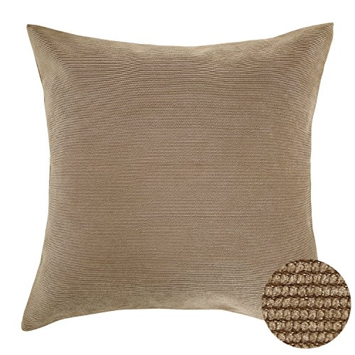 Deconovo Corduroy Flocking Throw Cushion Case Pillow Cover With Invisible Zipper For Sofa, 18x18 ...
