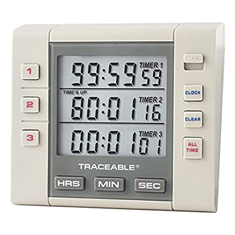 Amazon.com: Control Company 5000 pepel de alarma de tres ...