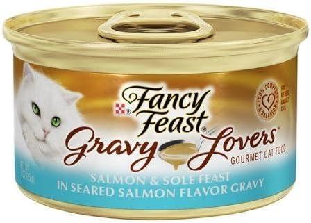 Fancy Feast Gravy Lovers Salmon Sole Feast in Seared Salmon Flavor Gravy Cat Food 3 oz, 12 Cans