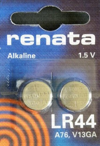 10 X Two (2) X Renata LR44 76A AG13 157 V13GA RW82 Alkaline Calculator / Watch / Key / Gadget Battery 1.5v Blister Packed Quality by Renata