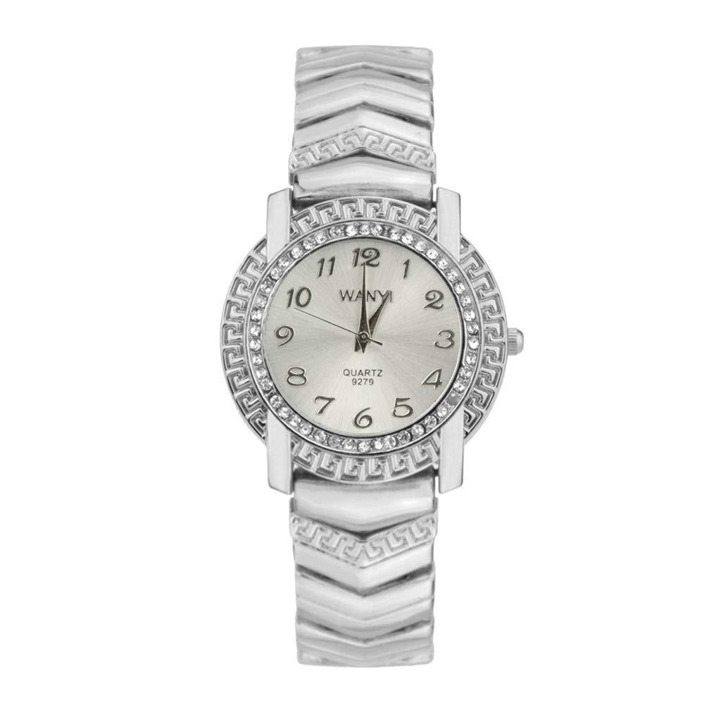 Metal Cara del Dial Mujer Moda Relojes De Pulsera De Lujo ...