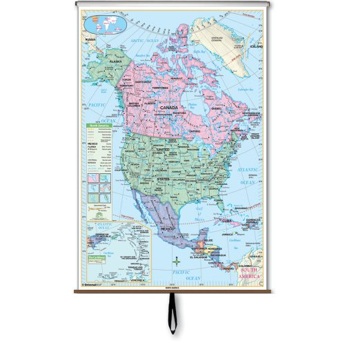 North America Essential Wall Map Roller (Essential Classroom Wall Maps)