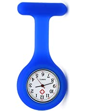 Nurse Watch Brooch, High Quality Silicone with Pin/Clip, Infection Control Design, Health Care Nurse Doctor Paramedic Medical Brooch Fob Watch