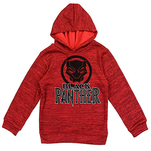 Black Panther Marvel Boys' Pullover Hoodie, Red (6)