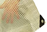 100G/M BRAIDED, CLEAR TARPAULIN (SELECTION OF SIZES) FREE DELIVERY (3X4M)