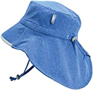 Jan & Jul Boys Wide Brim 50+ UPF Adventure Sun-Hat with Neck Flap Chin-Strap Adjustable for Baby Toddler