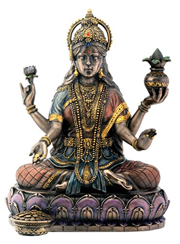 Bronze Goddess Lakshmi Hinduism Display