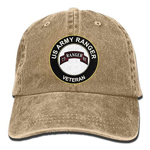 Nanlight US Army Veteran Airborne 75 Ranger RGT Adjustable Washed Twill Baseball Cap Dad ()