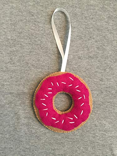 Donut with Sprinkles Christmas Ornament in Pink -