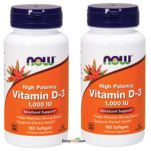 Cheap Now Foods Vitamin D3 1000 IU – 360 softgels (Pack of 2)