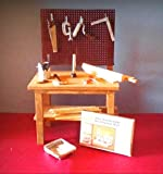Dollhouse Miniature Handcrafted Workbench, tools, wood, dollhouse kit 1:12 scale - My Mini Fairy Garden Accessories for Outdoor or House Decor