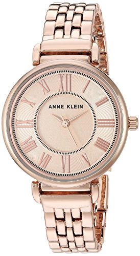 (Anne Klein Women's AK/2158RGRG Rose Gold-Tone Bracelet Watch)